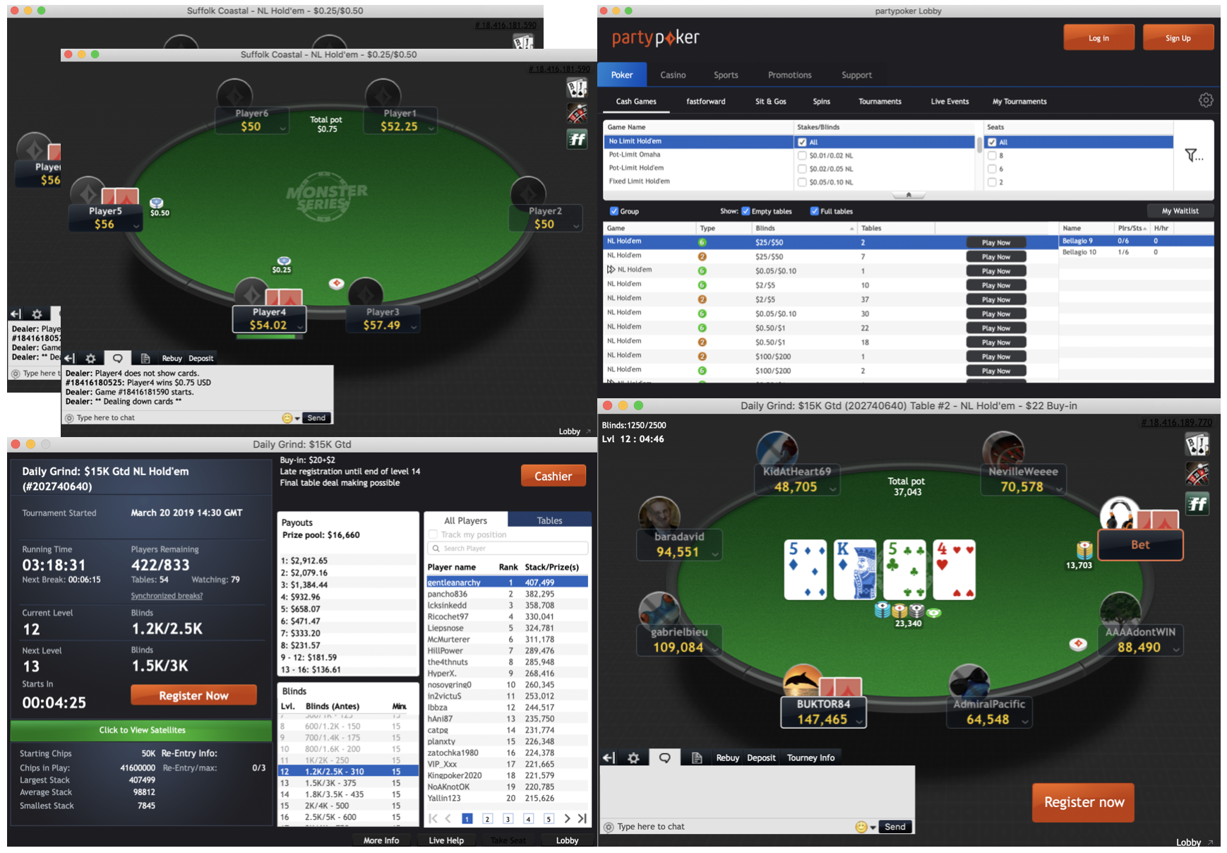 partypoker software updated
