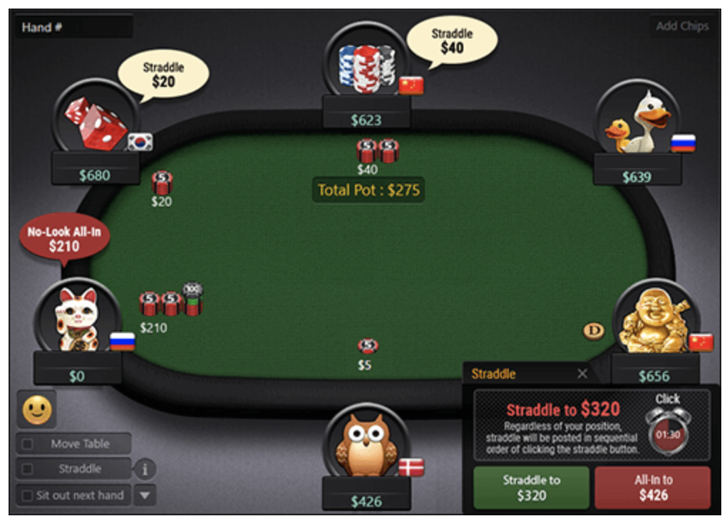 straddle gg poker