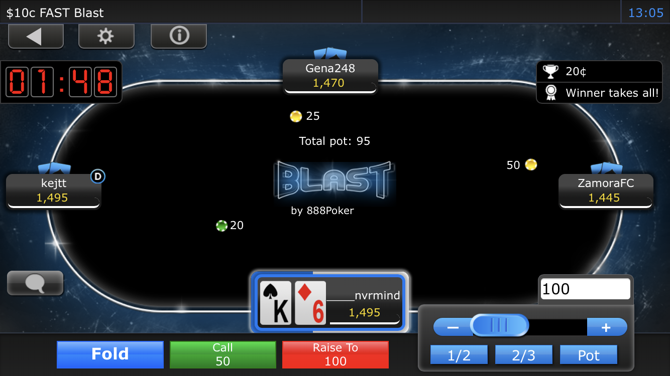 888 poker app table view