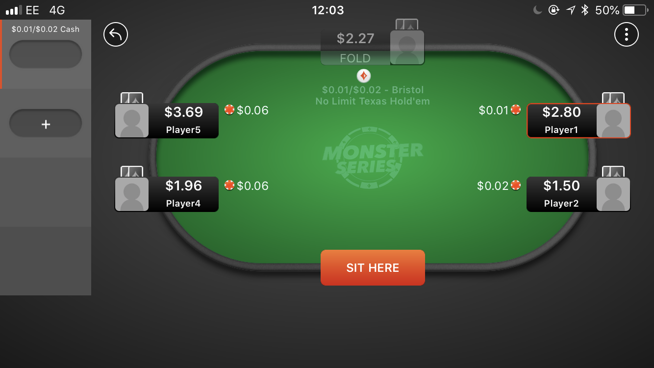 party poker table app