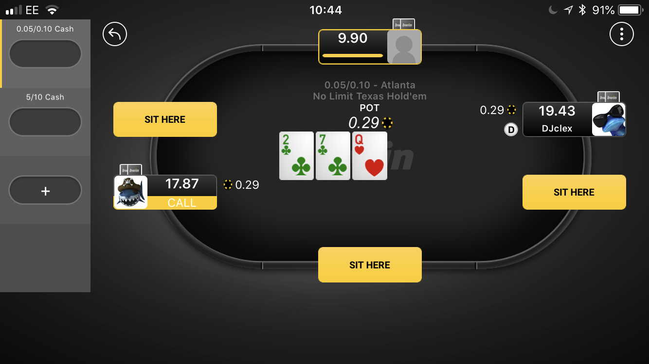 bwin poker table app