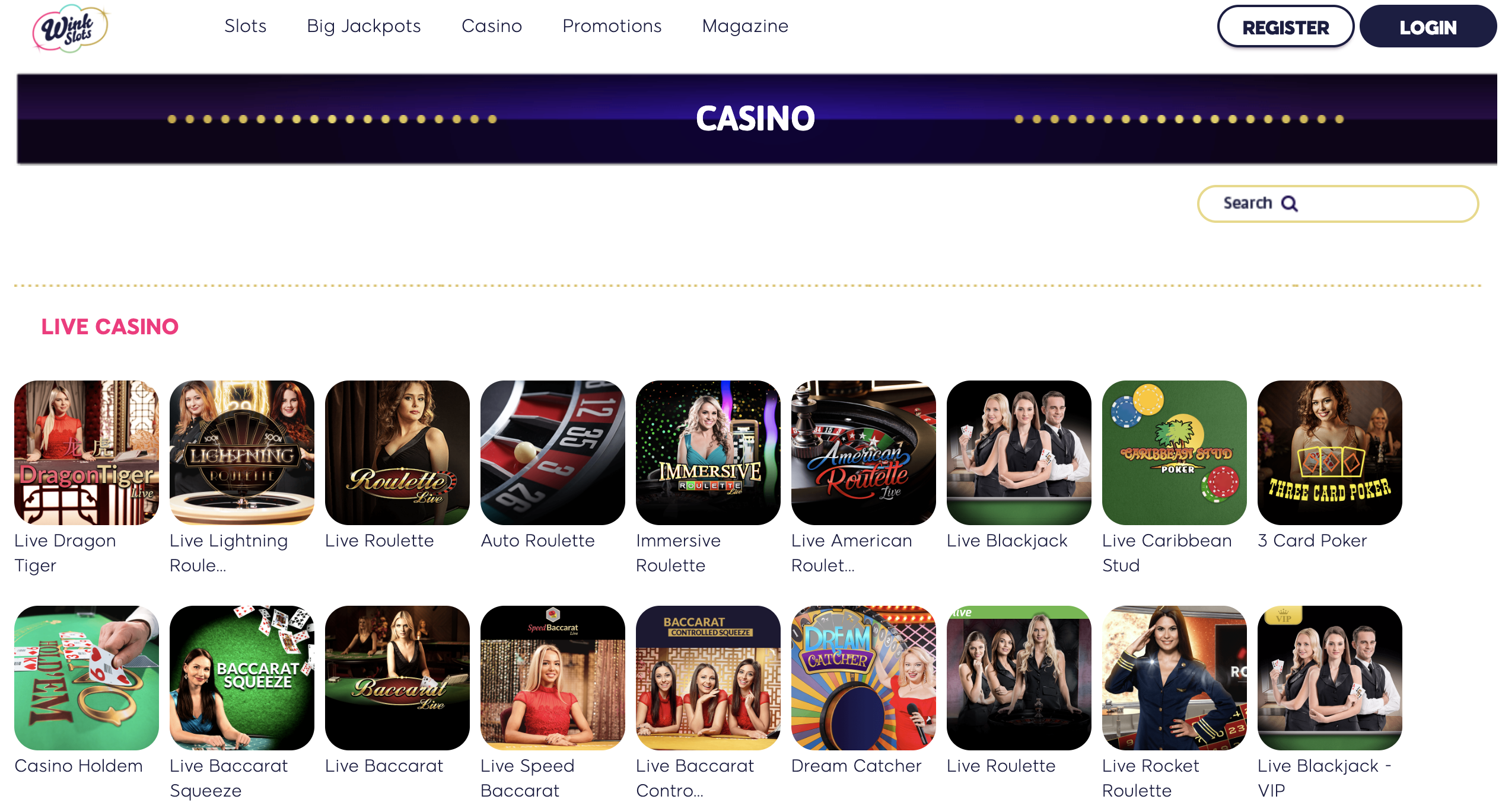 wish casino games