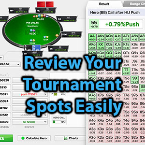 review your tournament spots easily
