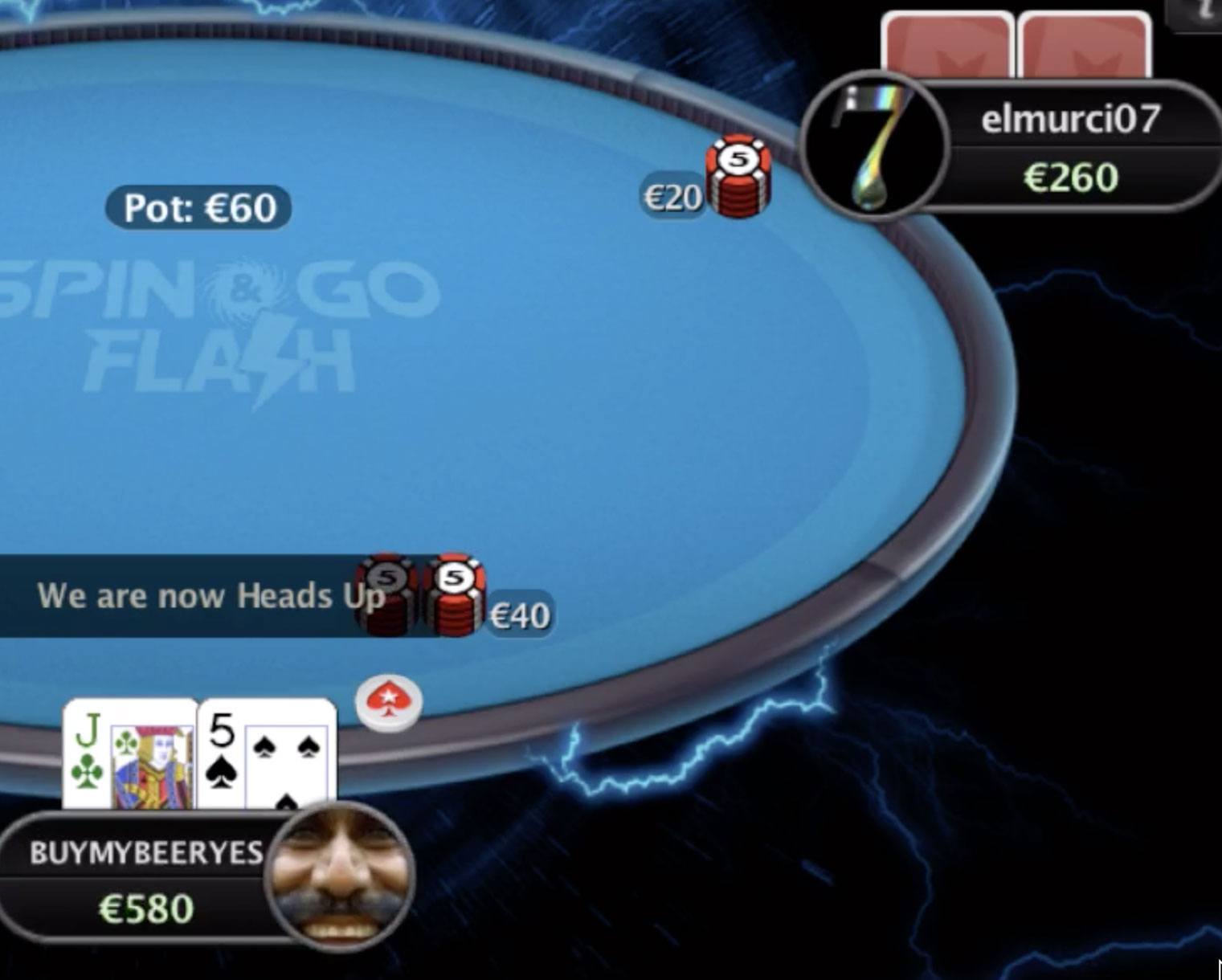 apply pressure when heads up with lead