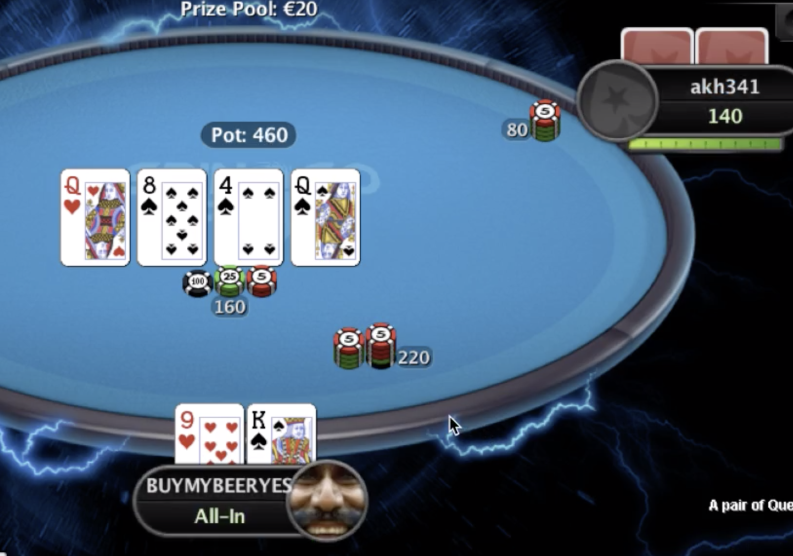 jamming with flush draw