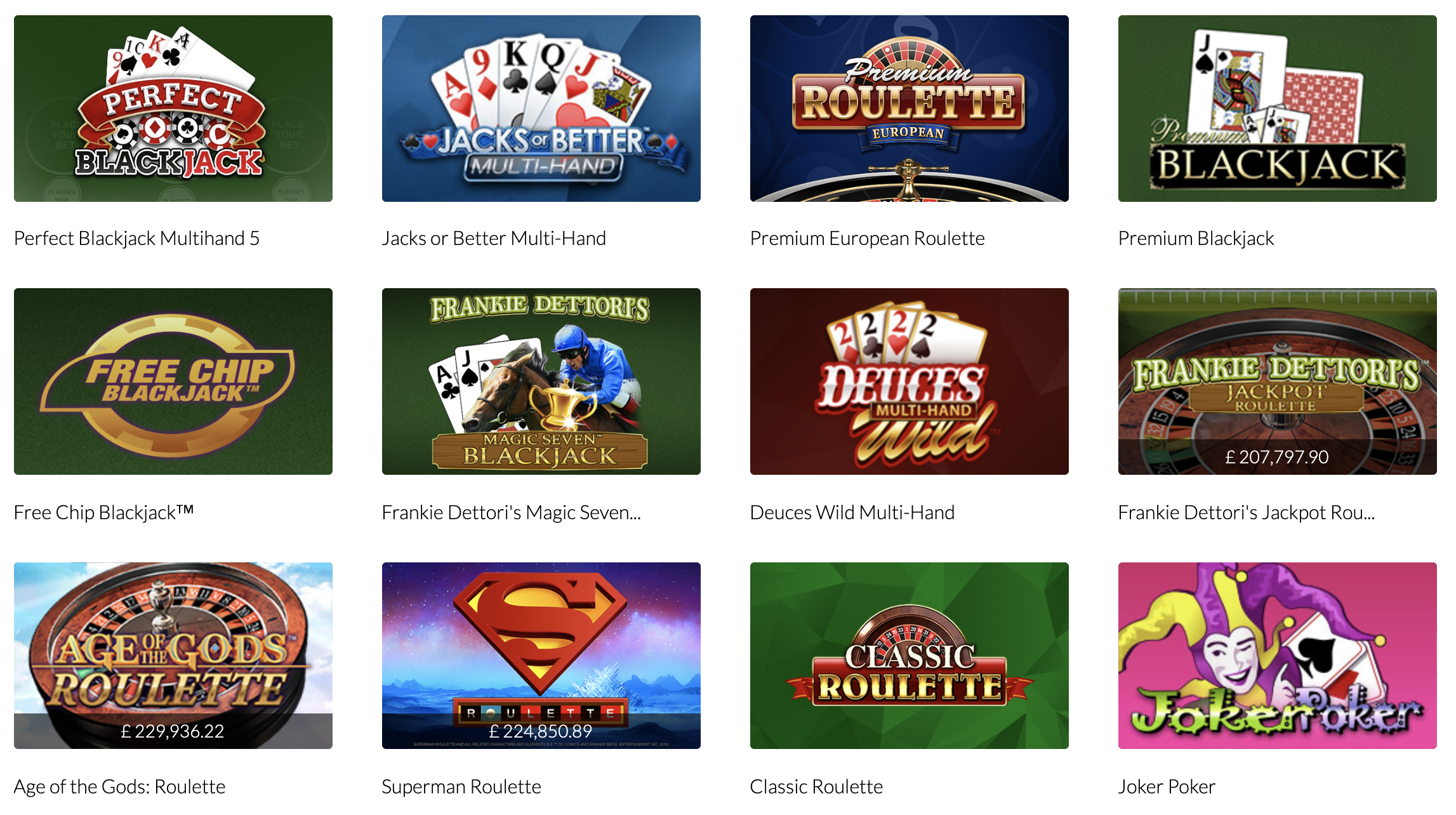 mansion casino table games