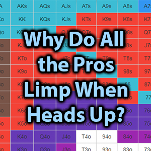 why do all the pros limp when heads up?